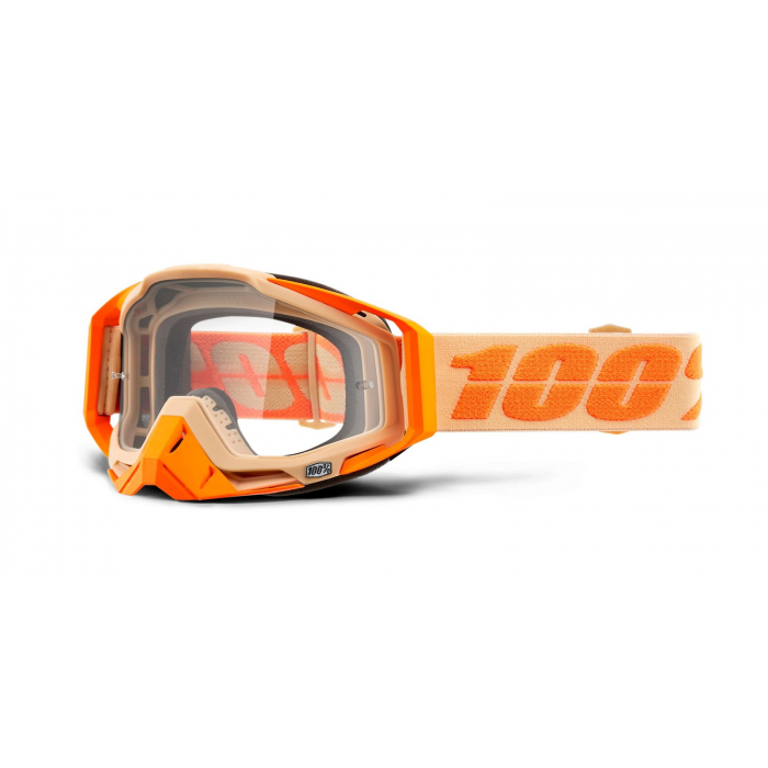 Motokrosové okuliare 100 % RACECRAFT Sahara (číre plexisklo)