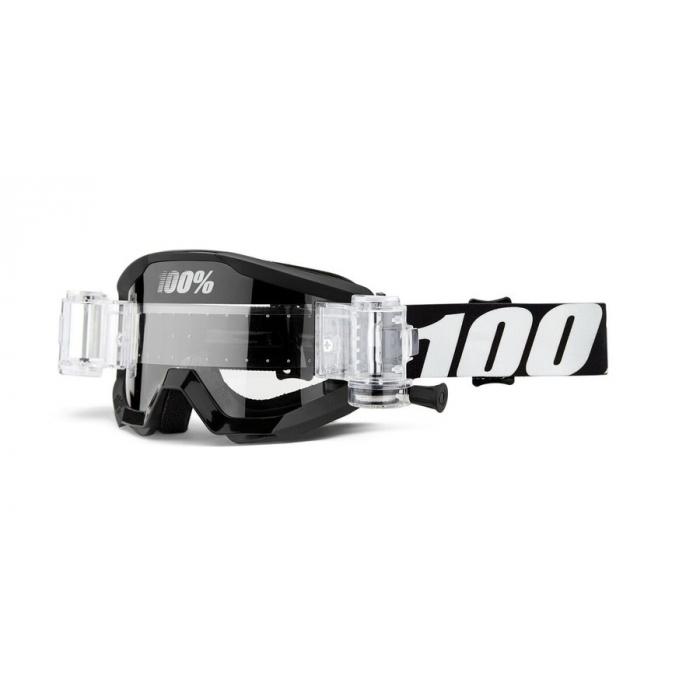 Motokrosové okuliare 100 % Strata Mud Outlaw (číre plexisklo)