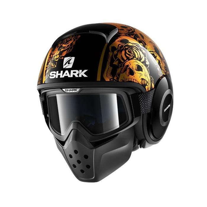 Otvorená prilba SHARK DRAK Sanctus čierno-oranžová
