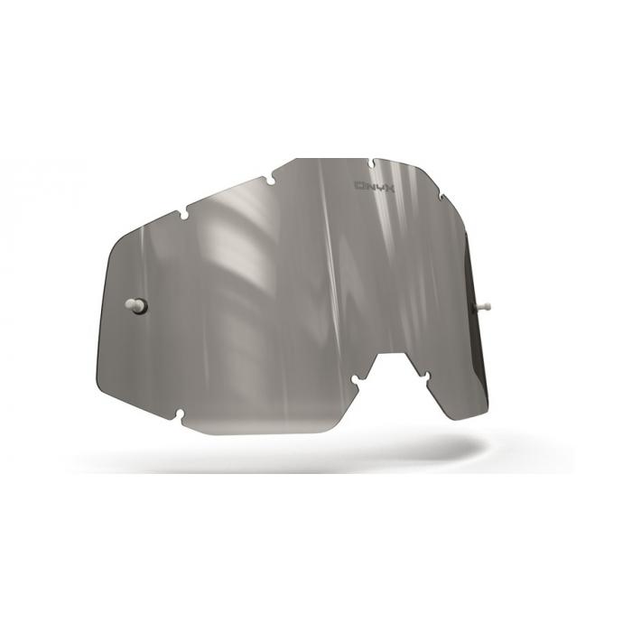 Plexisklo Onyx pre motokrosové okuliare 100 % Racecraft/Accuri/Strata (šedé s polarizáciou)