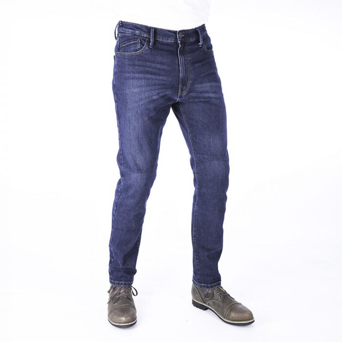 Predĺžené jeansy na motocykel Oxford Original Approved Slim Fit sprané modré výpredaj