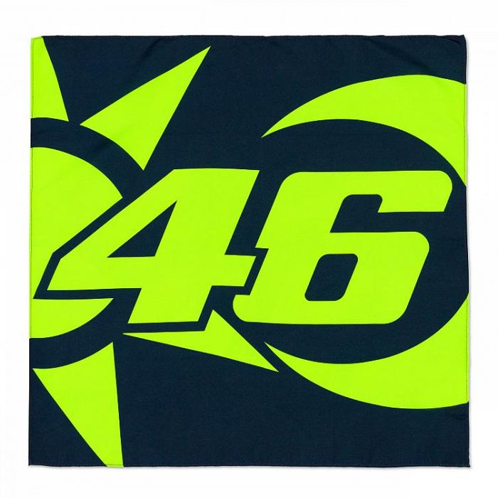 Šatka VR46 Valentino Rossi SUN AND MOON modro-žltá