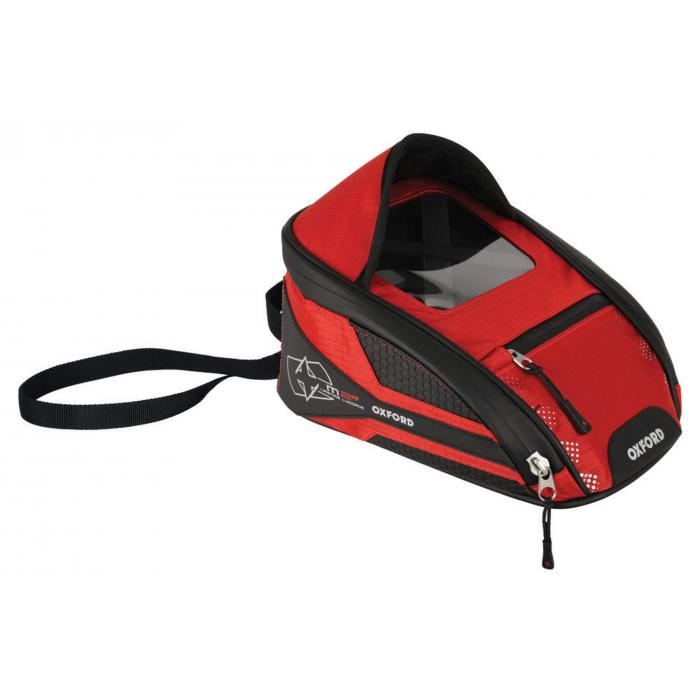 Tankbag na motocykel Oxford M2R čierno-červený