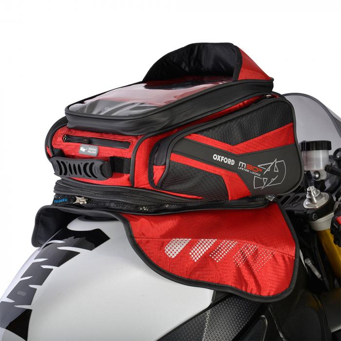 Tankbag na motocykel Oxford M30R čierno-červený