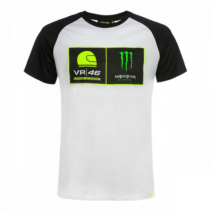 Tričko VR46 Valentino Rossi RIDERS ACADEMY MONSTER biele
