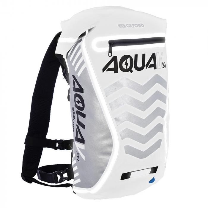 Batoh Oxford Aqua V20 Extreme Visibility odolný proti vode bielo-šedý