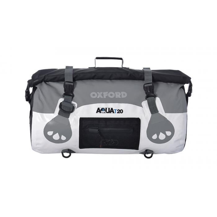 Vodotesný vak Oxford Aqua20 Roll Bag bielo-šedý