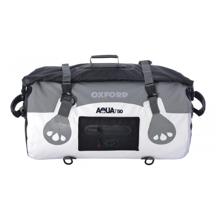Vak odolný proti vode Oxford Aqua50 Roll Bag bielo-šedý