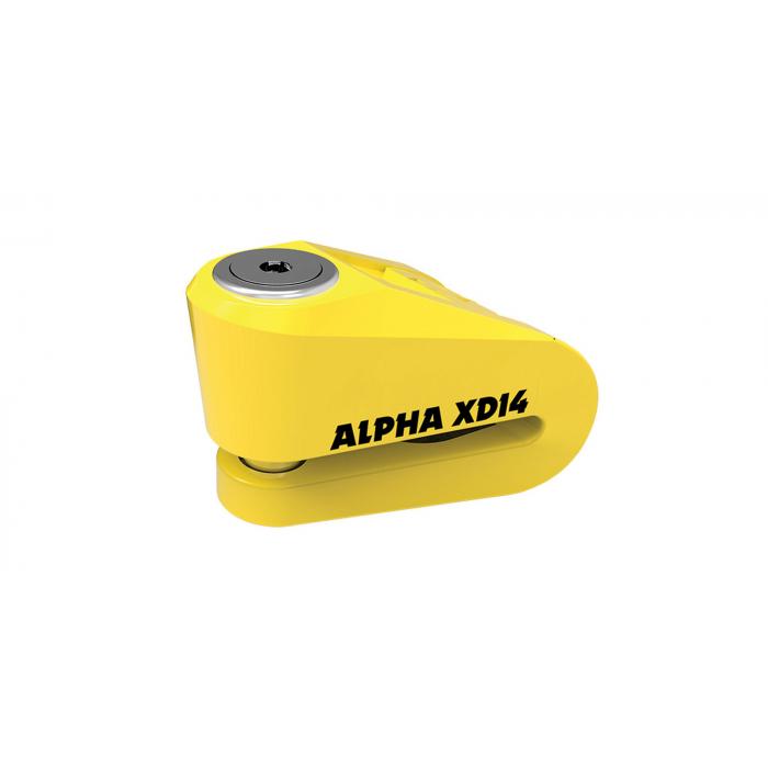 Zámok kotúčovej brzdy Oxford Alpha XD14 žltý