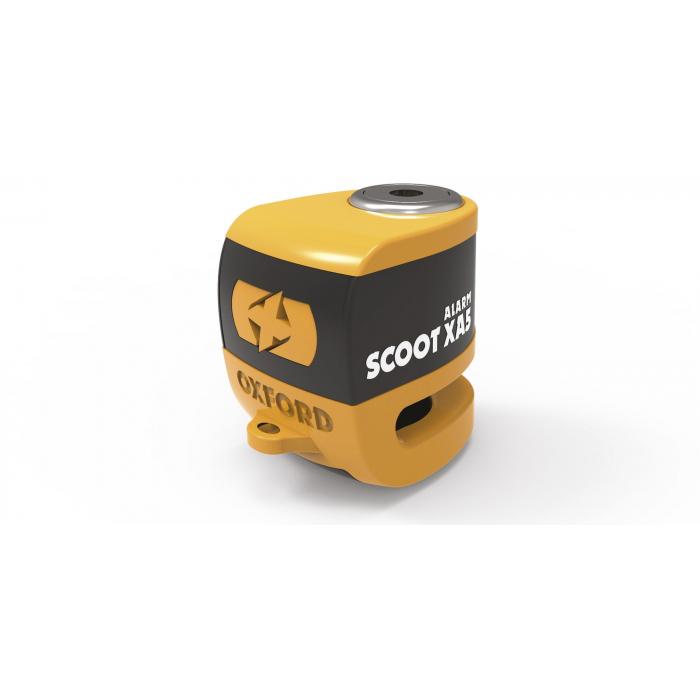 Zámok kotúčovej brzdy Oxford Scoot XA5 oranžovo-čierny