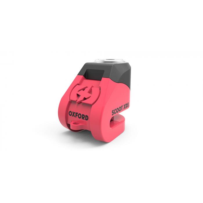 Zámok kotúčovej brzdy Oxford Scoot XD5 ružovo-čierny