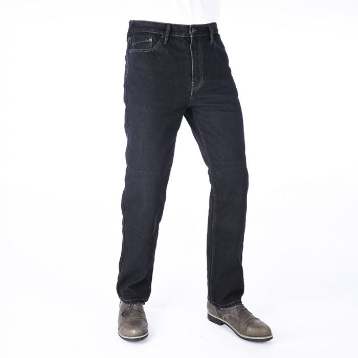 Skrátené jeansy na motocykel Oxford Original Approved Jeans čierne výpredaj