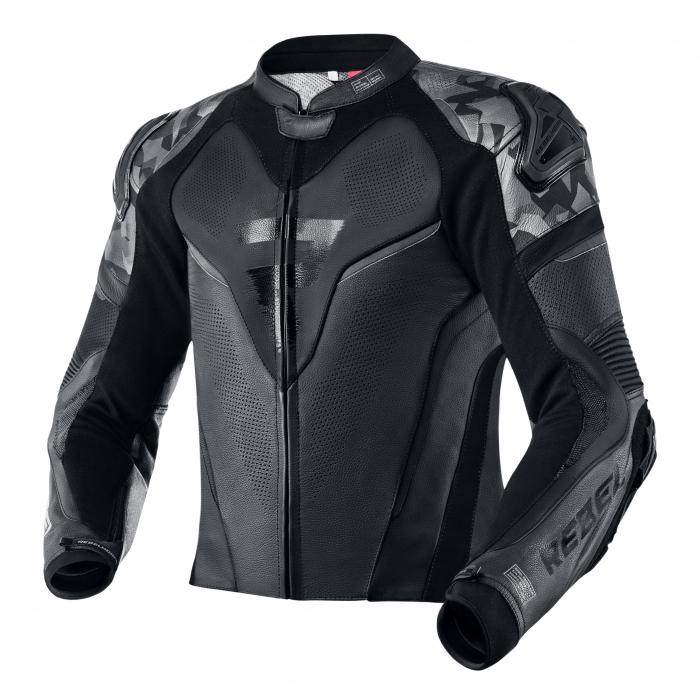 Bunda na motocykel Rebelhorn Rebel čierna