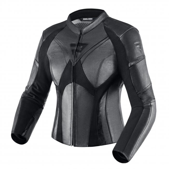 Dámska bunda na motocykel Rebelhorn Rebel čierna
