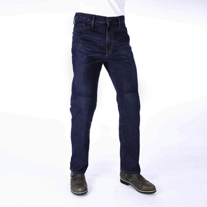 Predĺžené jeansy na motocykel Oxford Original Approved Jeans sprané modré výpredaj